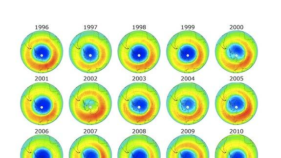 Ozone Hole Shrinks to Record Low