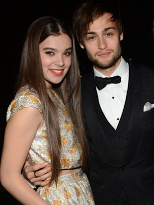 Hailee Steinfeld with 'Romeo and Juliet' co-star Douglas Booth at the CFDA Fashion Awards 2013. (Steve Eichner/WWD)