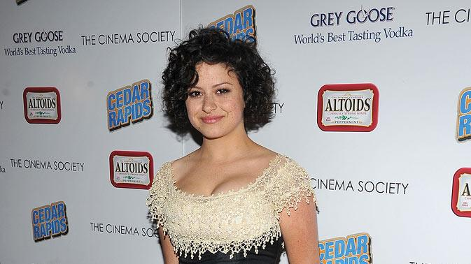 "Alia Shawkat attends a screening of ""Cedar Rapids"" hosted by The Cinema Society and Altoids at the SVA Theater on February 10, 2011 in New York City."