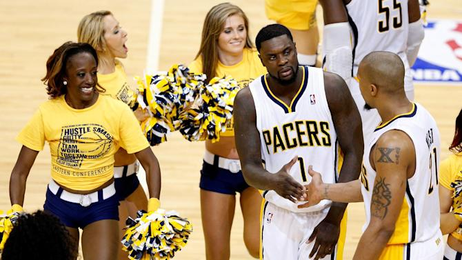 Pacers' Hibbert, Stephenson fined for flopping