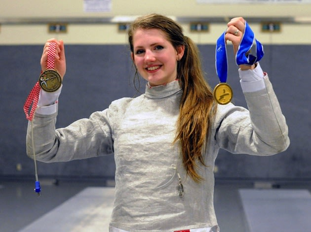 Sage Palmedo is undoubtedly the nation's best teenage sabre fencing female -- The Oregonian