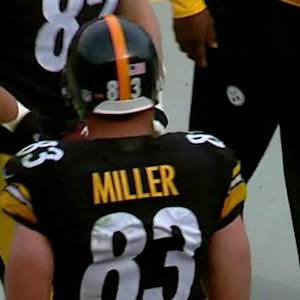 Pittsburgh Steelers tight end Heath Miller secures 5-yard touchdown pass