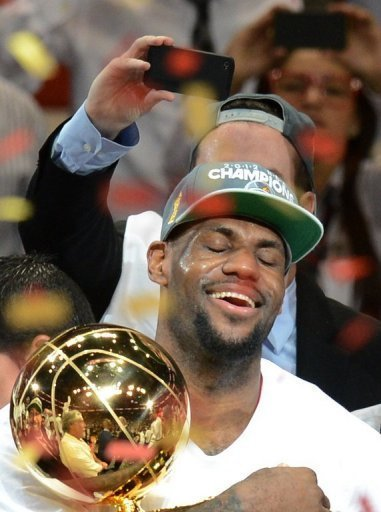 MVP LeBron James on Thursday captured his long-sought first championship