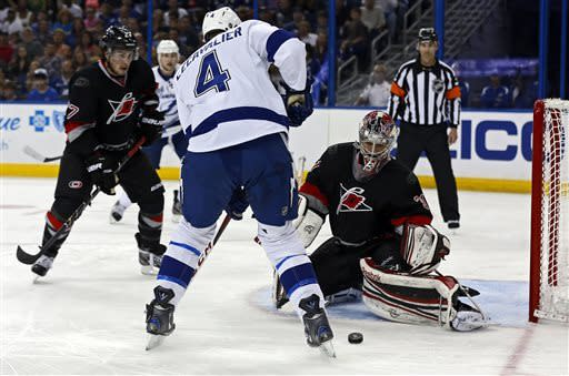 Tlusty scores twice as Hurricanes beat Lightning