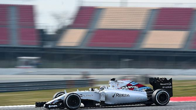 Williams' Brazilian driver Felipe Massa drives during the second day of the third and last segment of Formula One pre-season testing at the Circuit de Catalunya in Montmelo on the outskirts of Barcelona on February 27, 2015