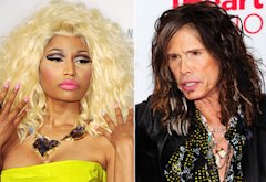 Nicki Minaj, Steven Tyler | Photo Credits: Steve Granitz/WireImage; Steven Lawton/Getty Images