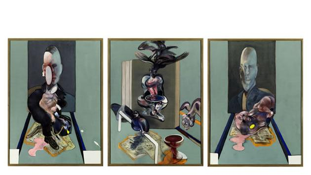 """Triptych, 1976"" by Francis Bacon, sold for $86.3 million in 2008."