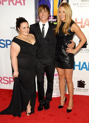 Nicole Blonsky , Zac Efron and Amanda Bynes at the New York premiere of New Line Cinemas' Hairspray