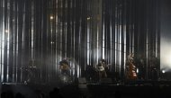 Pop group Mumford & Sons performs during the BRIT Awards, celebrating British pop music, at the O2 Arena in London February 20, 2013. REUTERS/Dylan Martinez