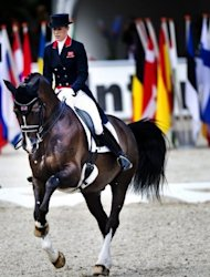 Great Britain also have high hopes of a first Olympic dressage medal, as Charlotte Dujardin and her mount Valegro, seen here in 2011, limbered up with a new world record of 88.022 percent at Hagen in Germany in April