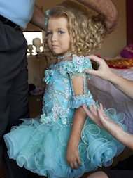 Mia Spargo, 4, before a pageant