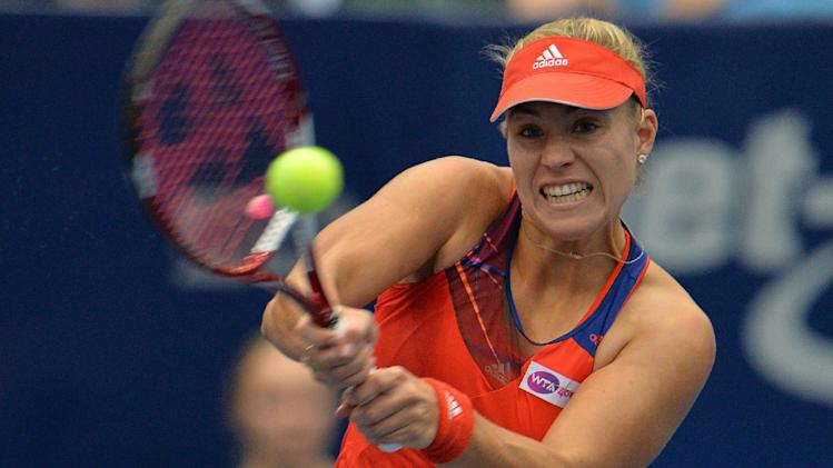 Top-seed Kerber beats Ivanovic in Linz final
