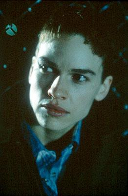 Hilary Swank as Brandon Teena in Fox Searchlight's Boys Don't Cry