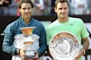 El espa&ntilde;ol Rafael Nadal (l) posa con el trofeo de campe&oacute;n de Roma junto al suizo Roger Federer tras la final de Roma que gan&oacute; el espa&ntilde;ol por s&eacute;ptima vez en el Foro It&aacute;lico de Rome, Italia. Nadal gan&oacute; 6-1 y 6-3. EFEEl espa&ntilde;ol Rafael Nadal consolid&oacute; su leyenda en Roma donde se coron&oacute; por s&eacute;ptima vez, tras arrollar en el foro It&aacute;lico por 6-1 y 6-3 al suizo Roger Federer. EFEEl tenista espa&ntilde;ol Rafael Nadal posa con el trofeo que le acredita como campe&oacute;n del torneo de Roma por s&eacute;ptima vez tras vencer en la final al suizo Roger Federer en el Foro It&aacute;lico de Rome, Italia. Nadal gan&oacute; 6-1 y 6-3. EFE
