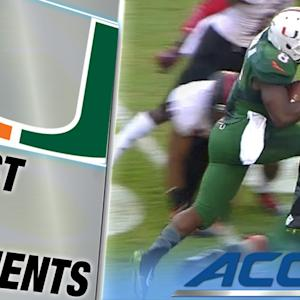 Duke Johnson Passes Willis McGahee on TD Run | ACC Must See Moment