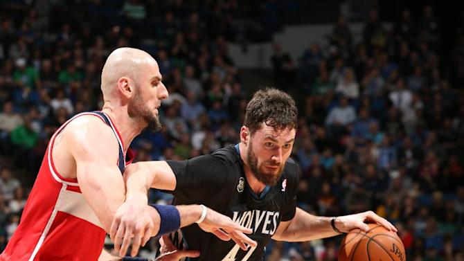 Love, Barea send Wolves to 120-98 win over Wizards