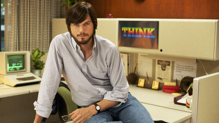 """This undated publicity film image provided by the Sundance Institute shows Aston Kutcher as Steve Jobs in """"JOBS,"""" the 2013 Sundance Film Festival's closing night film in January. (AP Photo/Sundance Institute)"""