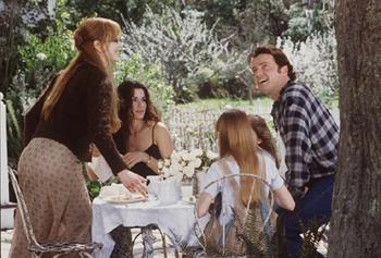 Nicole Kidman , Sandra Bullock , Alexandra Artrip , Evan Rachel Wood and Aidan Quinn in Warner Brothers' Practical Magic