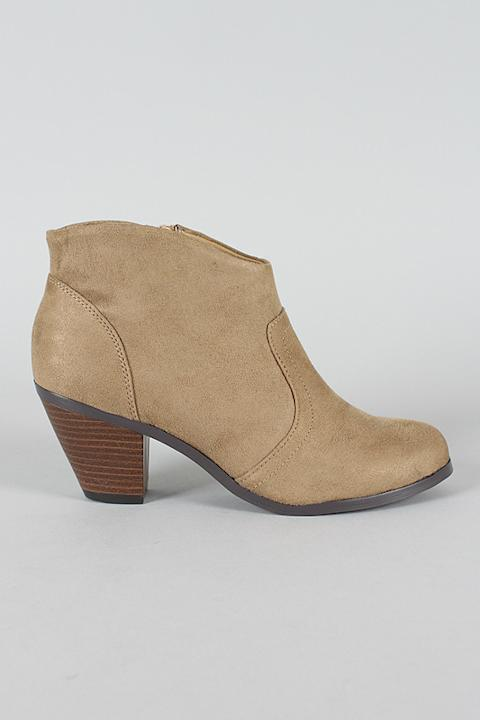 City Classified Prosa-H Western Cowboy Ankle Bootie