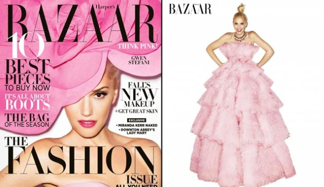 Gwen Stefani on the cover of Harper's Bazaar, September 2012 -- Harper's Bazaar