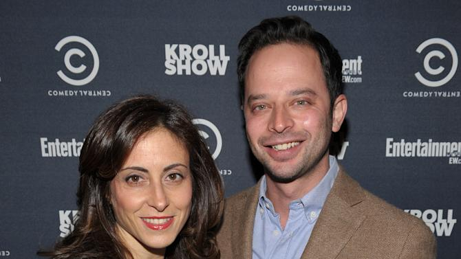 "Entertainment Weekly Associate Publisher, Advertising Sales Melissa Mattiace, left, and actor/comedian Nick Kroll attend exclusive screening of Comedy Central's ""Kroll Show"" hosted by Entertainment Weekly on Tuesday, January 15, 2013 at LA's Silent Movie Theatre in Los Angeles. (Photo by John Shearer/Invision for Entertainment Weekly/AP Images)"