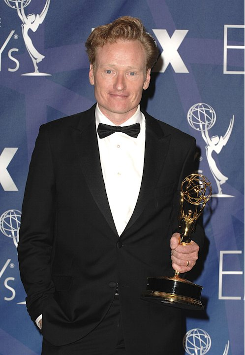 Conan O'Brien poses in the press room at the 59th Annual Primetime Emmy Awards at the Shrine Auditorium on September 16, 2007 in Los Angeles, California.
