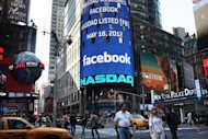 The Nasdaq board in Times Square advertises Facebook which debuted on the Nasdaq Stock Market on May 18 in New York, United States. The horrendous stock market debut for Facebook suggests investors are not ready to jump in and create another tech bubble despite big expectations for social media, analysts say