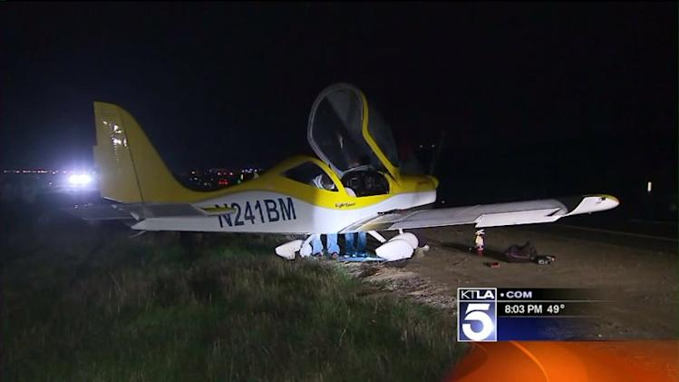 Small Plane Lands on Toll Road in Rancho Santa Margarita