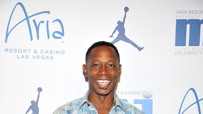 Former Major League Baseball player Kenny Lofton arrives at the Michael Jordan Celebrity Invitational opening night dinner, Wednesday, April, 3, 2013 in Las Vegas. (Photo by Jeff Bottari/Invision for Jordan/AP Images)