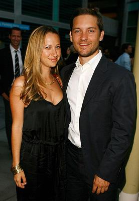 Tobey Maguire and fiancee Jennifer Meyer at the Los Angeles premiere of Warner Independent Pictures' The 11th Hour