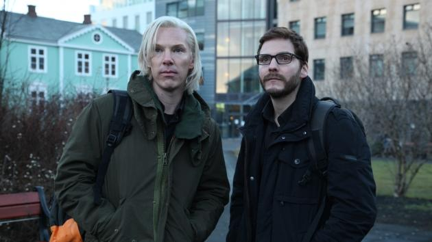 Benedict Cumberbatch as Julian Assange and Daniel Brühl as Daniel Domscheit-Berg in 'The Fifth Estate' -- Walt Disney Studios