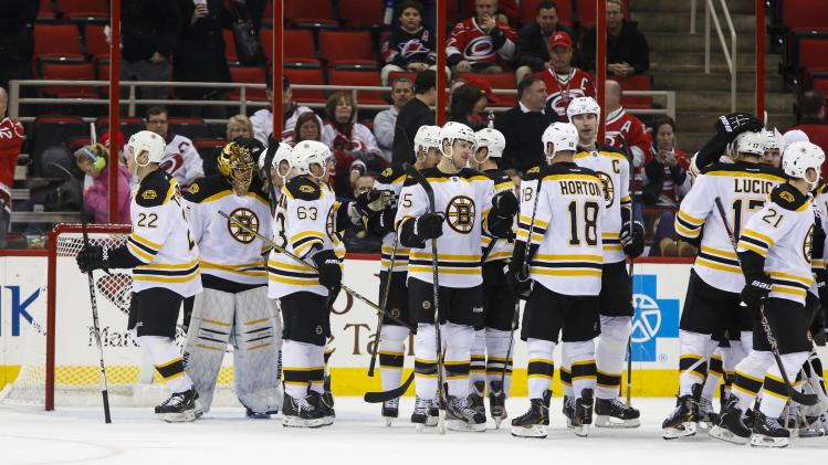 NHL: Boston Bruins at Carolina Hurricanes