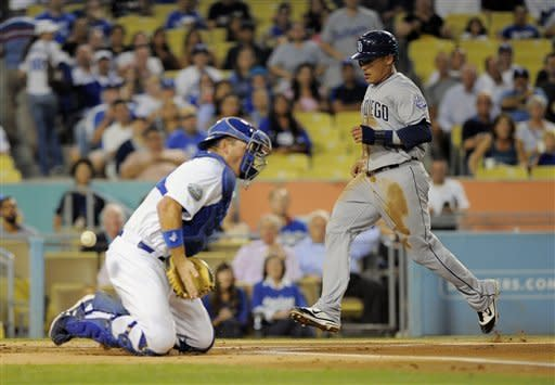 Maybin robs Kemp of HR, Padres top Dodgers 4-3