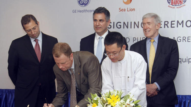 GE signs Myanmar deals after US eases sanctions