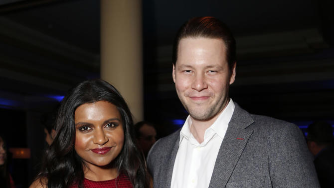 Mindy Kaling and Ike Barinholtz attend the Fox Winter TCA All Star Party at the Langham Huntington Hotel on Tuesday, Jan. 8, 2013, in Pasadena, Calif. (Photo by Todd Williamson/Invision/AP)