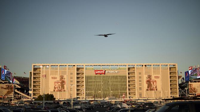 Levi's Stadium is seen during the first half of an NFL football game between the San Francisco 49ers and the Chicago Bears in Santa Clara, Calif., Sunday, Sept. 14, 2014