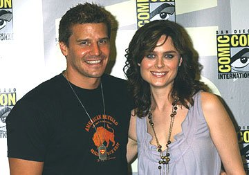 David Boreanaz and Emily Deschanel San Diego Comic-Con, 7/15/2005