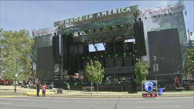 'Made In America' concert kicks off in Philly