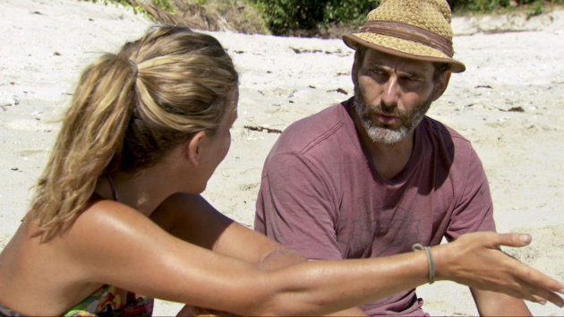 "Abi-Maria Gomes and Jonathan Penner in the ""Survivor: Philippines"" episode, ""Whiners are Weiners."""