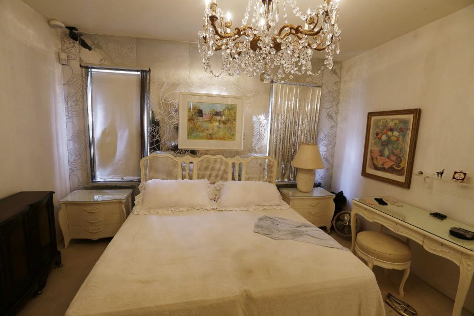 The bedroom at the Louis Armstrong House Museum is on display Wednesday, Oct. 9, 2013, in the Queens borough of New York. (AP Photo/Frank Franklin II)