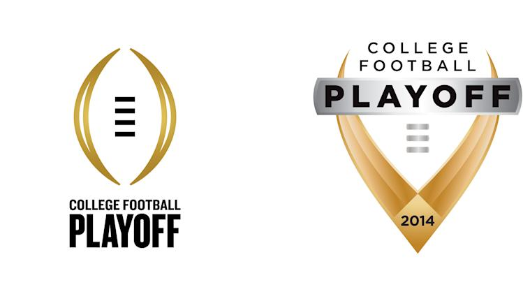 This combination image provided by the Bowl Championship Series on Tuesday, April 23, 2013, shows four choices for logos for the College Football Playoff, successor to the BCS, in 2014. The images are displayed on the event's new website, www.collegefootballplayoff.com where fans can vote on the new logo. (AP Photo/Bowl Championship Series)