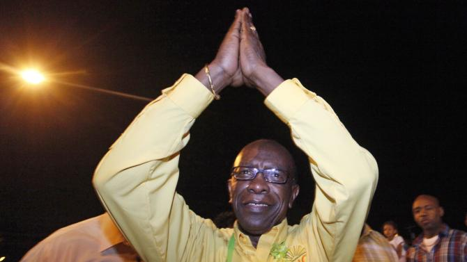 File photo of Jack Warner arriving for a news conference in Charlieville