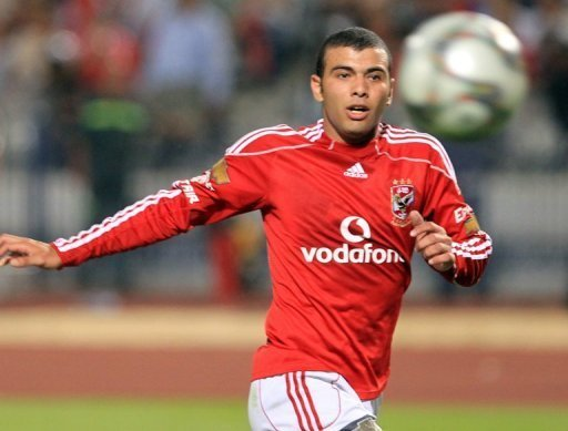 Egypt's Emad Moteab is pictured during a 2010 match. Record seven-time champions Egypt will miss consecutive Africa Cup of Nations tournaments for the first time since 1968 after being held to a 1-1 draw in the Central African Republic Saturday