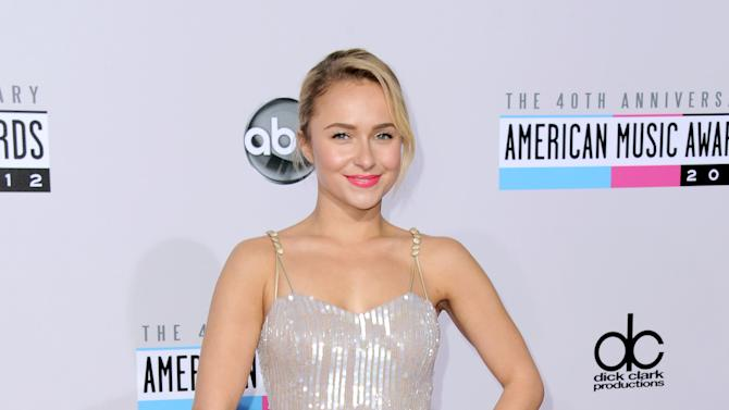 Hayden Panettiere arrives at the 40th Anniversary American Music Awards on Sunday, Nov. 18, 2012, in Los Angeles. (Photo by Jordan Strauss/Invision/AP)
