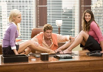 Sophie Monk , David Hasselhoff and Michelle Lombardo in Columbia Pictures' Click