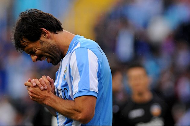  Malaga's Dutch Forward Ruud Van Nistelrooy Gesturing AFP/Getty Images