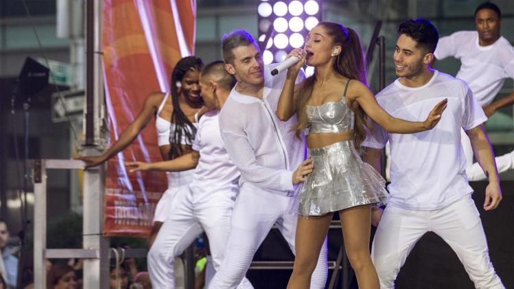 Singer Ariana Grande performs on NBC's 'Today' show in New York