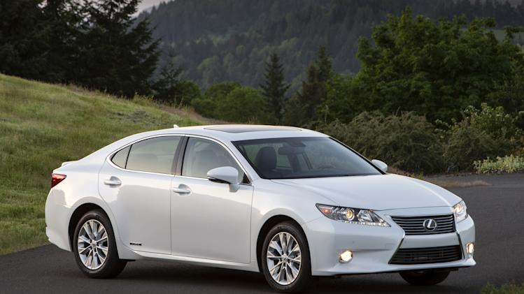 This undated photo made available by Toyota shows the 2013 Lexus ES 300h. (AP Photo/Toyota)