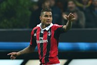AC Milan's defender Kevin-Prince Boateng celebrates after scoring a goal on February 20, 2013 at San Siro Stadium in Milan. Boateng claimed in a newspaper interview Friday that being targeted with racist abuse from some fans almost prompted his departure from Italy