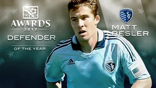 Sporting KC's Besler named 2012 Defender of the Year